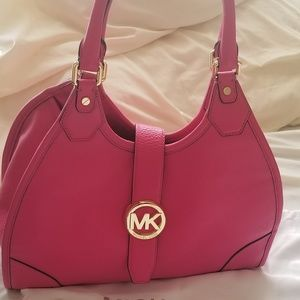 Michael Kors Large Pink Satchel